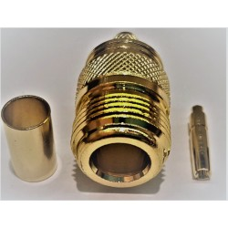 Socket N female gold
